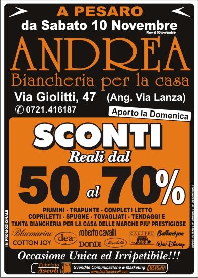 Andrea biancheria per la casa vendita promozionale a pesaro - Biancheria per la casa vendita on line ...