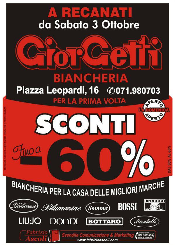 Organizzazione svendita giorgetti biancheria a recanati - Biancheria per la casa vendita on line ...