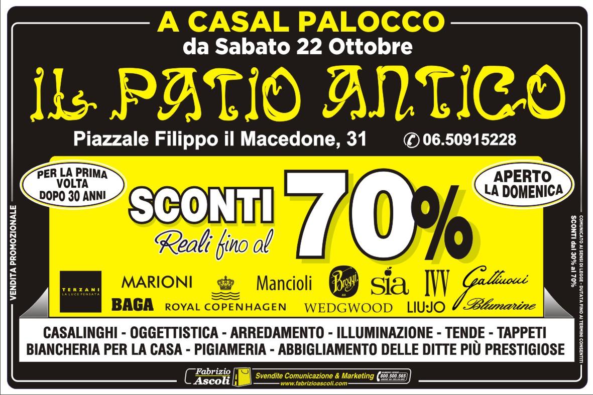 Vendita straordinaria roma il patio antico casal palocco - Biancheria per la casa vendita on line ...